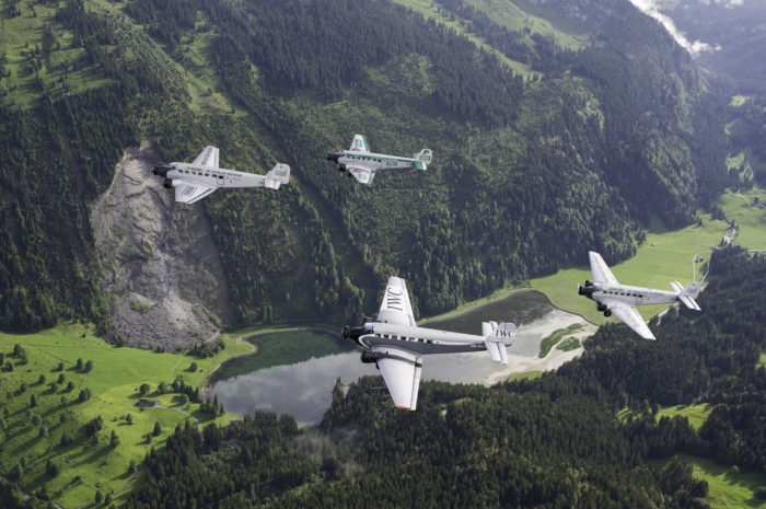Formation flight with four JU-52